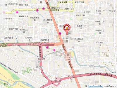 【地図】シャルマンエイト・