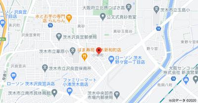 【地図】カースル安田