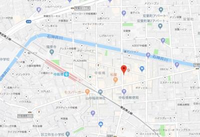 【地図】ベルシード中板橋Ⅱ