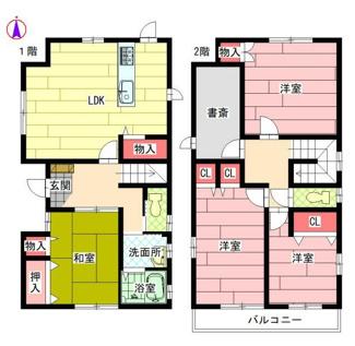 茜部大野 中古住宅 築20年 積水ハウス施工のお家です。住環境の整った茜部、お車スペースは1台です
