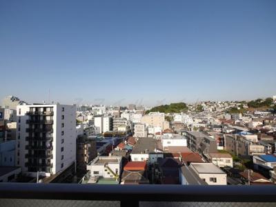 バルコニーからの眺望・北西向きです。