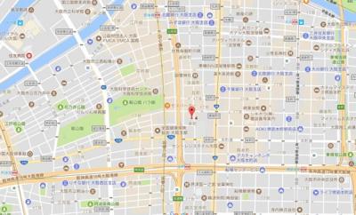 【地図】エスライズ御堂筋本町