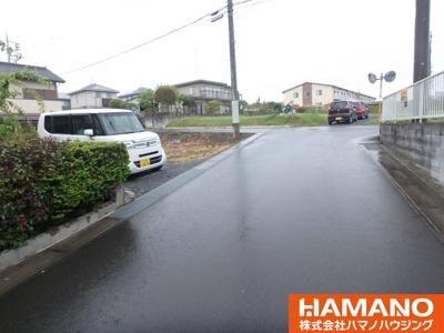 【前面道路含む現地写真】笠間市大田町土地
