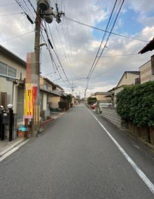 【前面道路含む現地写真】伏見区桃山最上町 建築条件付売土地