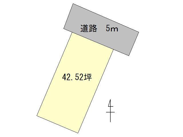 【土地図】甲府市国母2丁目 売地