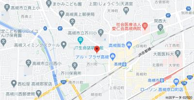 【地図】芥川町2丁目貸家 中井邸 (株)Roots