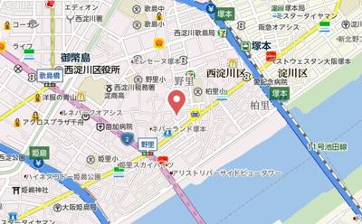 【地図】フジパレス野里公園