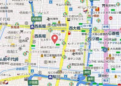【地図】アトリオ北堀江
