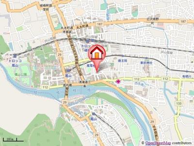 【地図】ヴィラ嵐山