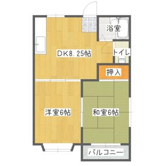 フラワーハイツ 2階2DK