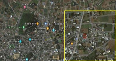 【地図】伊江島 土地