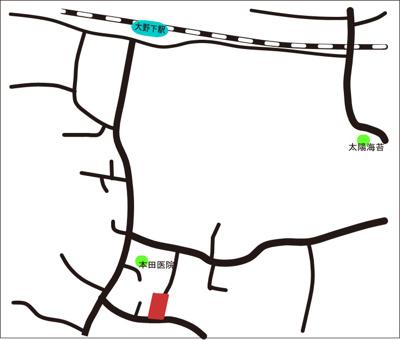 【地図】E002玉名市岱明町大野下1号地