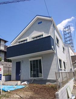 【外観】横浜市鶴見区下末吉5丁目1号棟 新築戸建(仲介手数料不要)