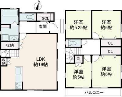 【参考プラン】仁川町3丁目C 売土地