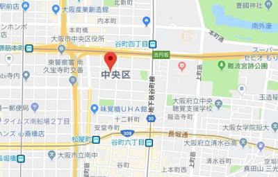 【地図】ファーストフィオーレ本町イースト