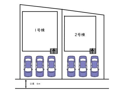 【区画図】姫路市網干区垣内本町/全二棟