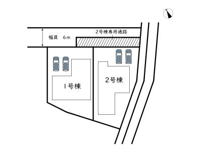 【区画図】姫路市花田町小川 9期/2棟