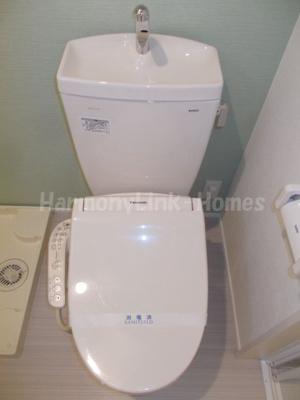 ハーモニーテラス東金町Ⅱのゆったりとした空間のトイレです
