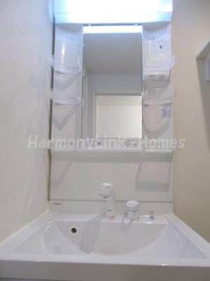 ハーモニーテラス東金町Ⅱの独立洗面化粧台が付いています
