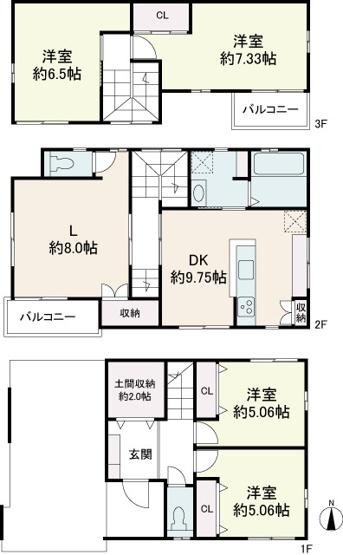 【参考プラン】薬師町A-4号地 売土地