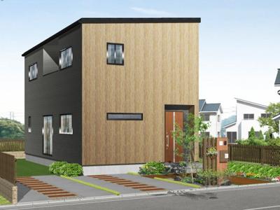 【外観パース】甲府市大里町 新築建売住宅