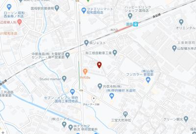 【地図】甲府市大里町