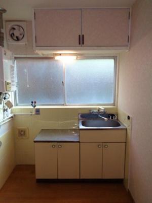 【キッチン】かつらマンション