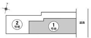 【区画図】箕面市箕面3丁目 土地 1号地