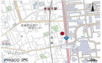 【地図】福生市福生 売工場