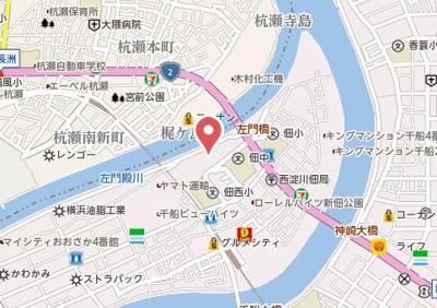 【地図】佃第三コーポ6号棟