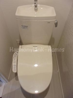 Villa Aube SHIMO17のコンパクトで使いやすいトイレです☆