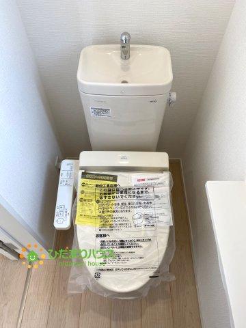 2階にも洗浄便座付きトイレを完備しております。