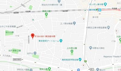 【地図】ステージ中野Ⅱ