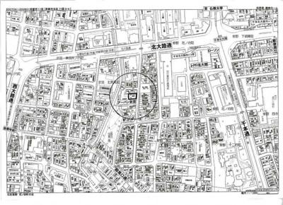 【地図】立命館、仏教大学も徒歩圏内の一棟マンション
