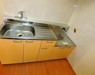 【キッチン】《木造7.84%!満室稼働中!》小樽市花園4丁目一棟アパート