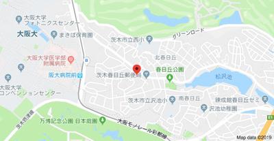 【地図】南春日丘日野山荘