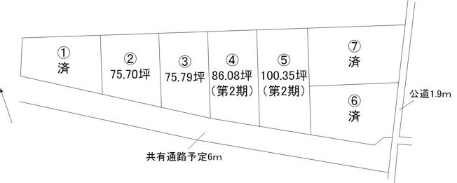 【土地図】小吹町土地全7区画