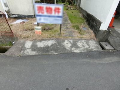 進入口部分。4mに改修する場合の費用約11万円は買主負担となります。