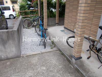 Azure青戸の駐輪スペース