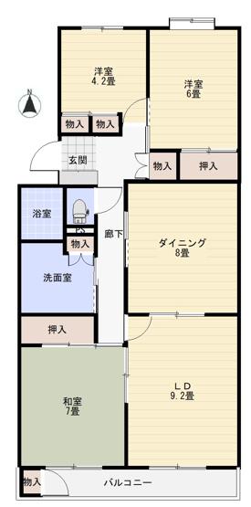 【地図】平塚若宮ハイツ1号棟 オーナーチェンジ