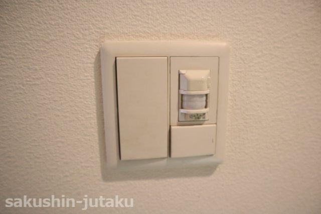 玄関に人感センサー付き照明
