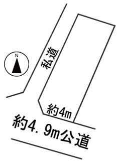 【区画図】55980 岐阜市鏡島土地