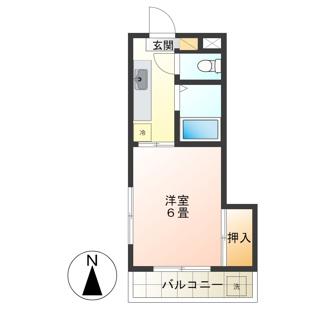 一人暮らしにうれしい1Kのお部屋です。
