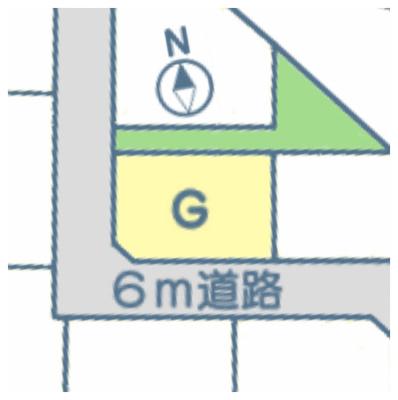 【区画図】甲府市音羽町 売地