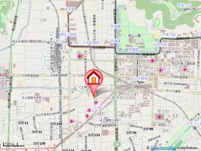 【地図】KBコート竹原