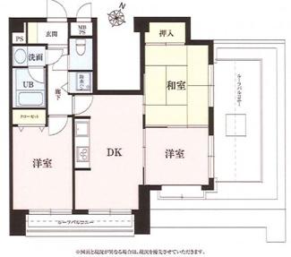 ライオンズマンション西千葉第二 3DK+ルーフバルコニーの間取りです!