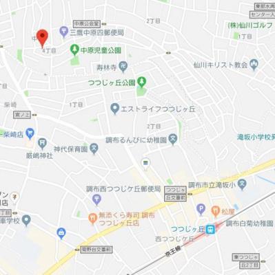 【地図】ベルつつじヶ丘