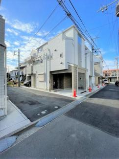 【外観】横浜市鶴見区下末吉3丁目D 新築戸建て