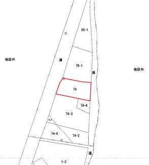 【土地図】能代市浅内字浅内堤下・売地