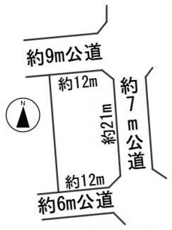 【区画図】55991 岐阜市日野北土地